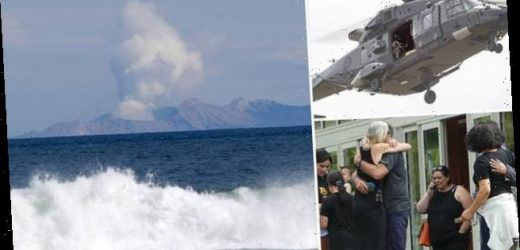 Incredible photos of White Island rescue workers searching for bodies