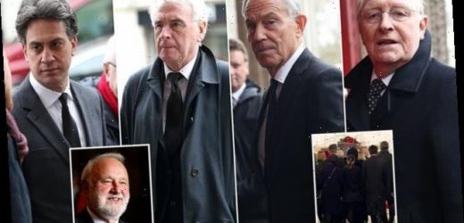 Labour grandees lead mourners at Frank Dobson's funeral