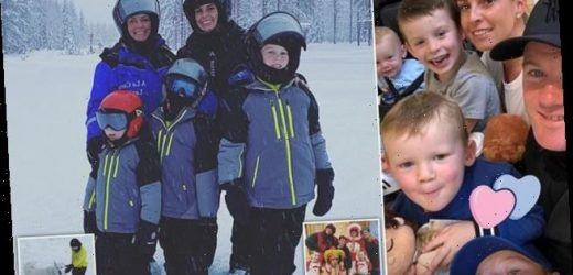 Coleen Rooney whisks her children off for a Christmas trip to Lapland