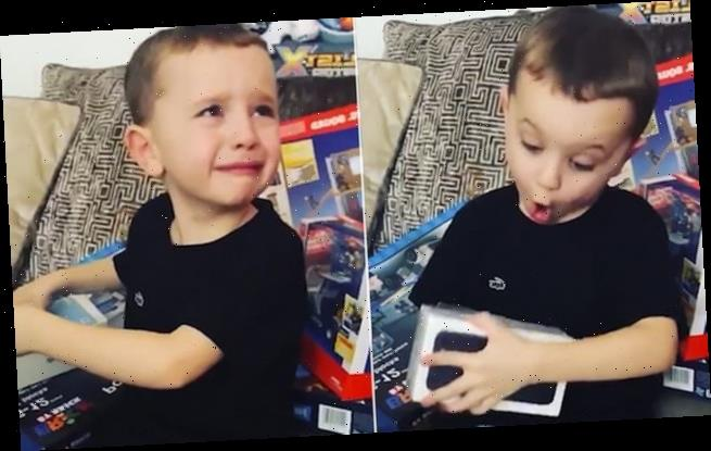 Six-year-old boy has adorable reaction to getting iPHONE for Christmas
