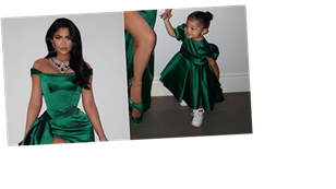 Kylie Jenner and Stormi Matched in Emerald Dresses For Christmas, and Ouch My Heart!