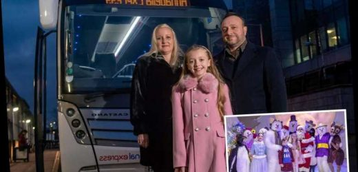 Heartwarming moment little girl's Christmas wish comes true as she stars in West End show – The Sun