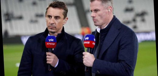 Jamie Carragher aims sly dig at Gary Neville after winning pundit of the year at Football Supporters' Association awards – The Sun