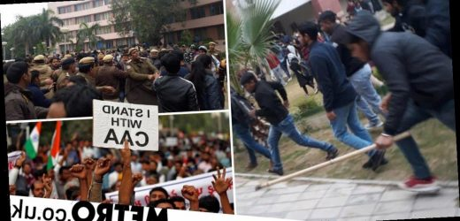 Student 'fears for life' after he's attacked at anti-government protest in India