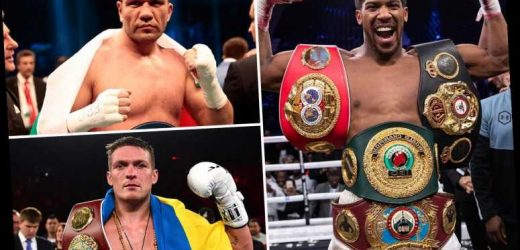 Anthony Joshua confirms he will defend heavyweight belts in March with Pulev or Usyk in line for title shot – The Sun