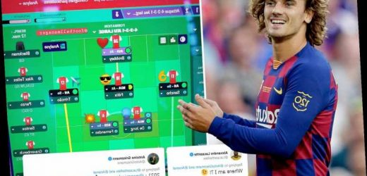Griezmann shows off his Arsenal team on Football Manager… and Lacazette is gutted he's been sold to Huddersfield – The Sun