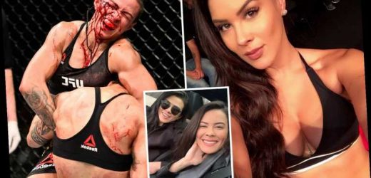 Stunning UFC Octagon girl Camis Oliveira poses with fighter Claudia Gadelha as rumours rise they are dating – The Sun