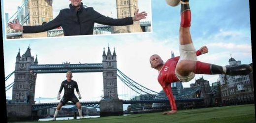 Wayne Rooney's iconic overhead for Man Utd against City recreated by Amazon Prime Video using Tower Bridge – The Sun