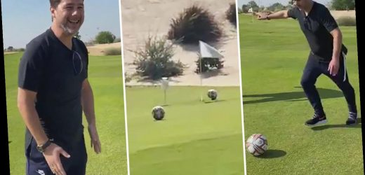 Watch ex-Tottenham boss Pochettino score incredible hole-in-one playing footgolf while in Qatar for Fifa Club World Cup – The Sun