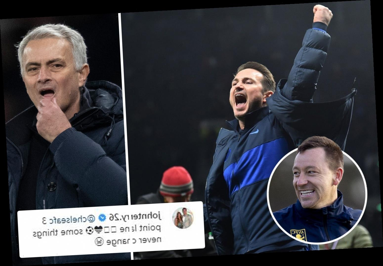 John Terry trolls Tottenham and Jose Mourinho with cheeky '3 point lane' comment after Chelsea's win over rivals – The Sun