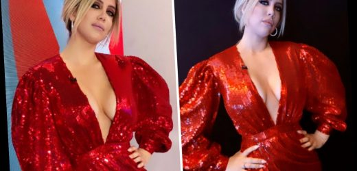 Wanda Nara shows off cleavage in plunging red dress in last 2019 episode of Italy's version of MOTD – The Sun