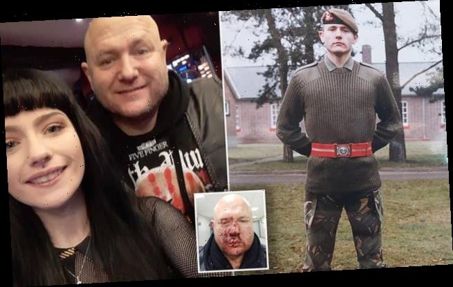 Thug glasses army veteran as he celebrates daughter's 18th birthday