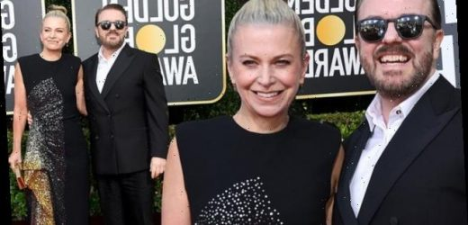 Golden Globes 2020: Ricky Gervais cosies up to his partner Jane Fallon