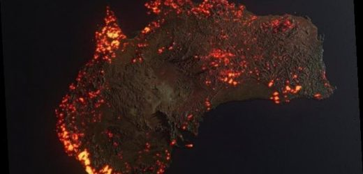 Astonishing graphic shows the true scale of bushfires across Australia
