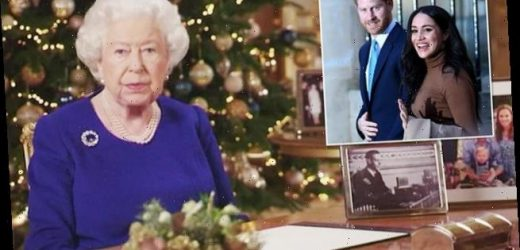 Did the Queen hint on Christmas that Harry and Meghan were quitting?