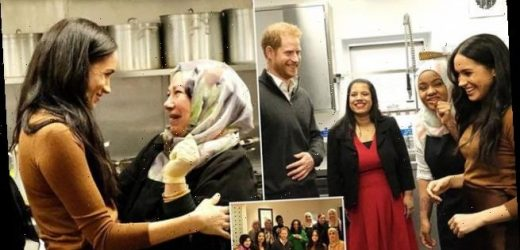 Meghan and Harry post new pictures of their visit to Grenfell kitchen