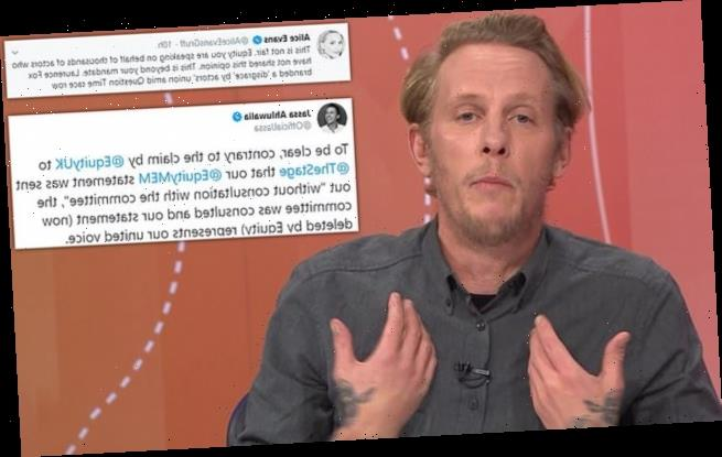 Actors union brands Laurence Fox a 'disgrace' – then deletes tweets