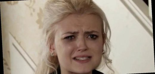 Corrie star Lucy Fallon reduced to tears as she bids moving farewell to soap