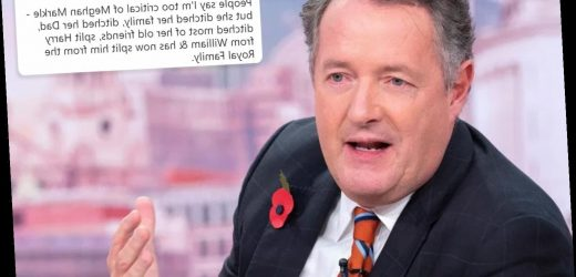 Piers Morgan rips into Meghan Markle for 'splitting Harry from the Royal Family' claiming 'what Meghan wants she gets'