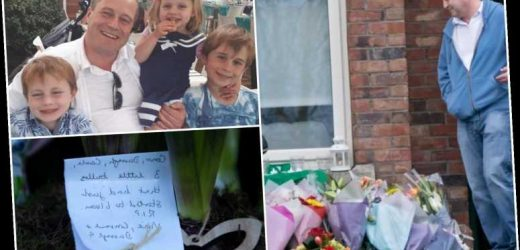 Devastated dad of three children found dead returns to Dublin house where siblings' bodies discovered