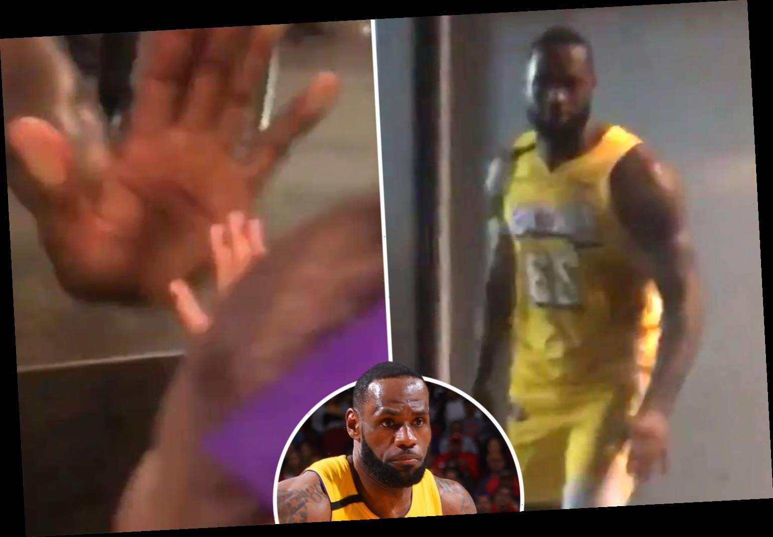 NBA megastar LeBron James stops to high-five adorable young fan after Los Angeles Lakers win against Houston Rockets – The Sun