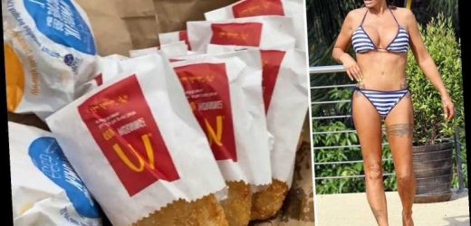 Katie Price gorges on two McMuffins and six McDonalds hash browns and wrecks new year diet after dramatic weight loss – The Sun