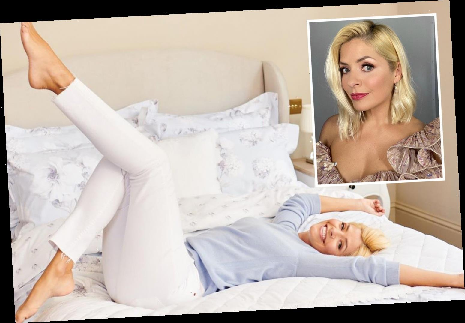 Holly Willoughby frolics around on a bed as fans call her a 'dream woman' – The Sun