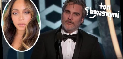Beyoncé Gets Called Out For Not Giving Joaquin Phoenix A Standing Ovation At The Golden Globes!
