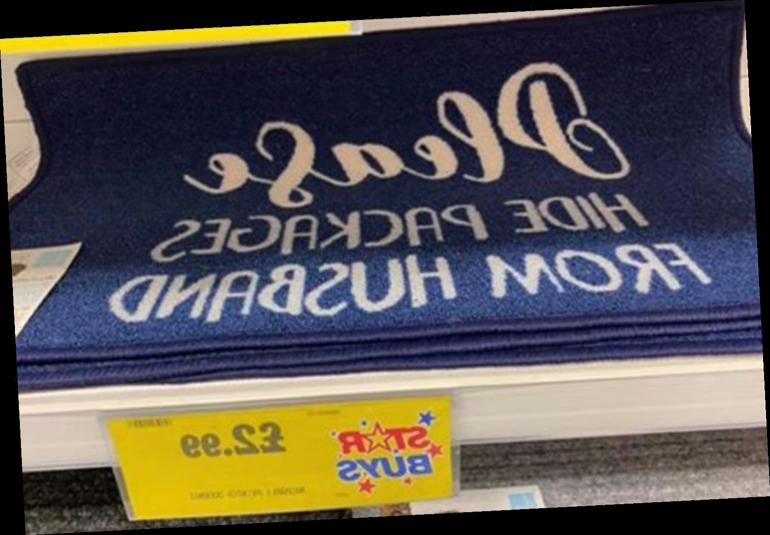 B&M is selling a £2.99 doormat that will help you hide deliveries from your other half