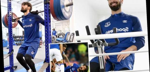 Andre Gomes trains at Finch Farm for first time since horror ankle break as Everton star steps up recovery from injury – The Sun