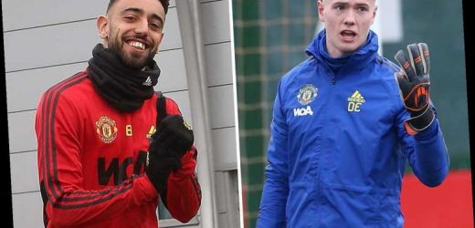 Man Utd new boys Bruno Fernandes and Nathan Bishop train for first time with team-mates ahead of Wolves clash – The Sun
