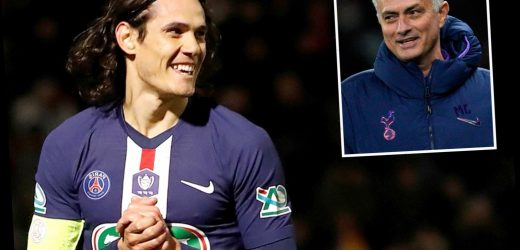 Chelsea face transfer battle with old boss Mourinho for PSG striker Edinson Cavani with Spurs desperate for firepower – The Sun