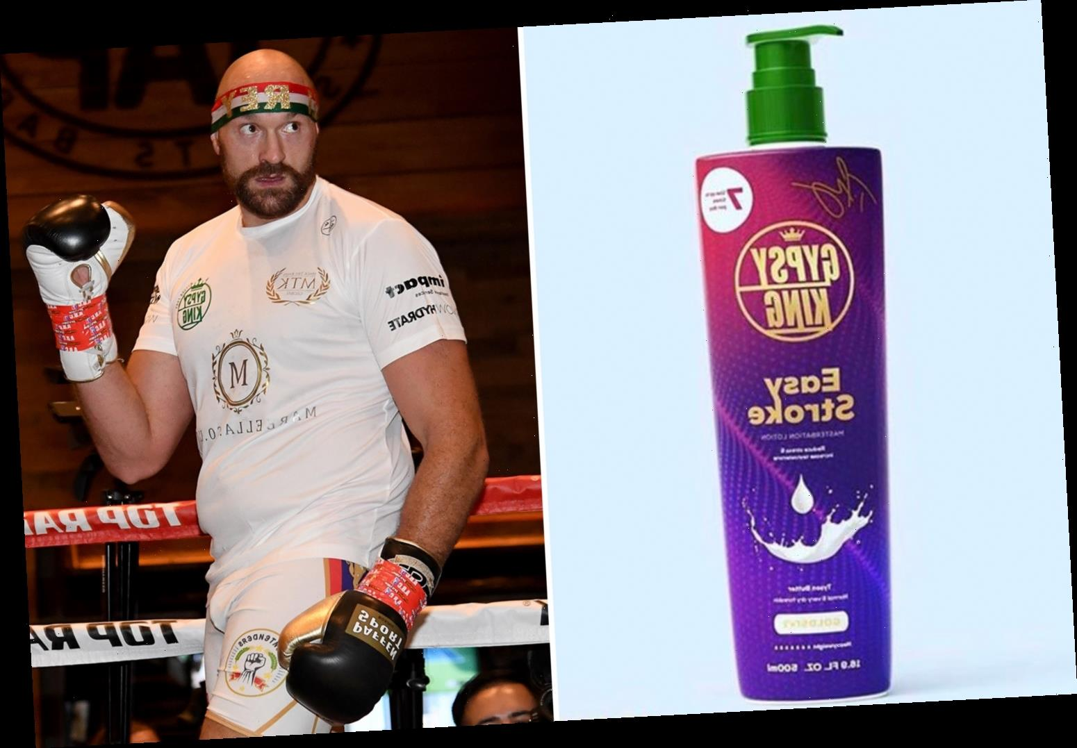 Tyson Fury shares pic of his masturbation lotion Easy Stroke and instructs 'for best results use up to 7 times a day' – The Sun