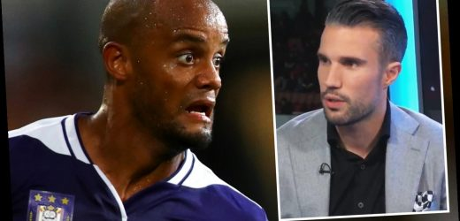 Kompany begged Man Utd legend van Persie to come out of retirement and help save his Anderlecht nightmare return – The Sun