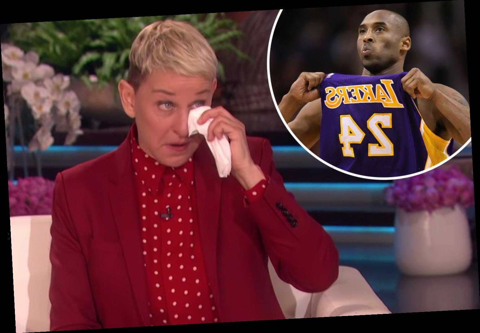 Ellen DeGeneres breaks down in tears as she remembers friend Kobe Bryant after helicopter disaster