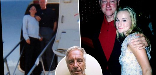 Bill Clinton poses with Epstein's 'pimp' Ghislaine Maxwell and a sex slave on board private jet the 'Lolita Express' – The Sun