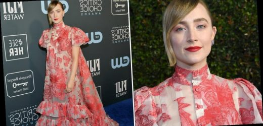 Saoirse Ronan's Critics' Choice Gown Is Subtly See-Through, and Jo March Would Approve