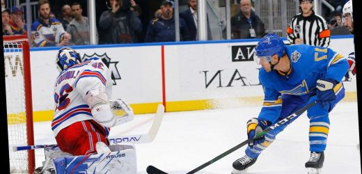 Rangers take step backward in loss to Blues