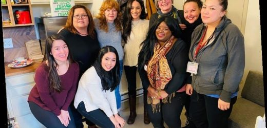 Duchess Meghan made an appearance at a Vancouver women's center