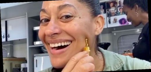 Tracee Ellis Ross Swears By This $16 Gold Facial Roller To Keep Her Skin Wrinkle-Free