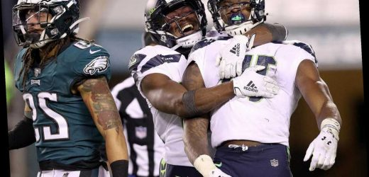 Seahawks beat depleted Eagles in NFC wild-card game