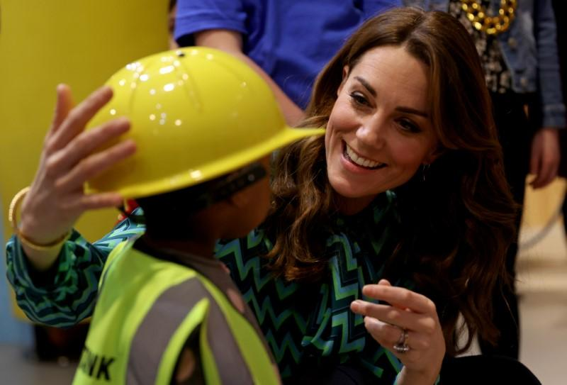UK's Duchess Kate begins 24-hour tour for childhood survey