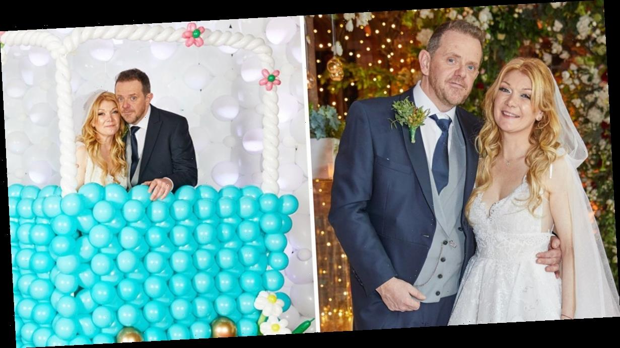 Emmerdale's Liam Fox and Joanna Hudson wedding: All the incredible unseen pictures from pair's fun and quirky nuptials