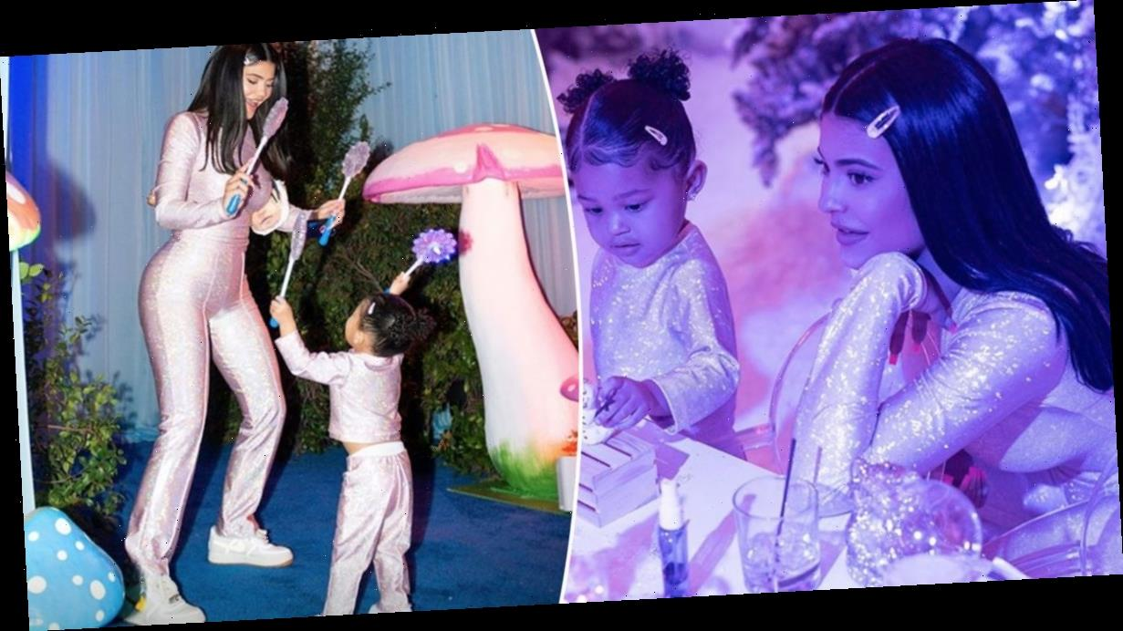 Kylie Jenner and daughter Stormi wear incredible matching sparkly outfits for epic birthday party
