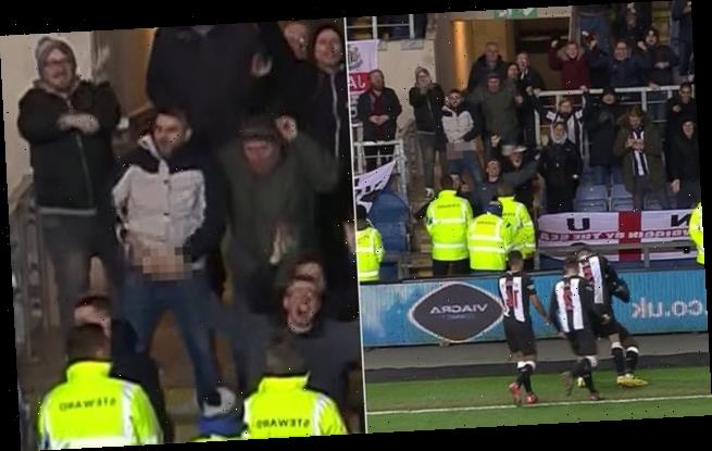 Newcastle fan caught on TV getting his penis out to celebrate winner