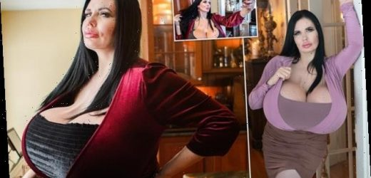 Glamour model with double Z cup breasts says she'll NEVER stop surgery