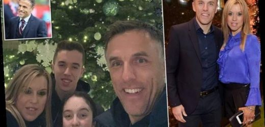 Phil Neville's wife reveals he went to training during her C-section