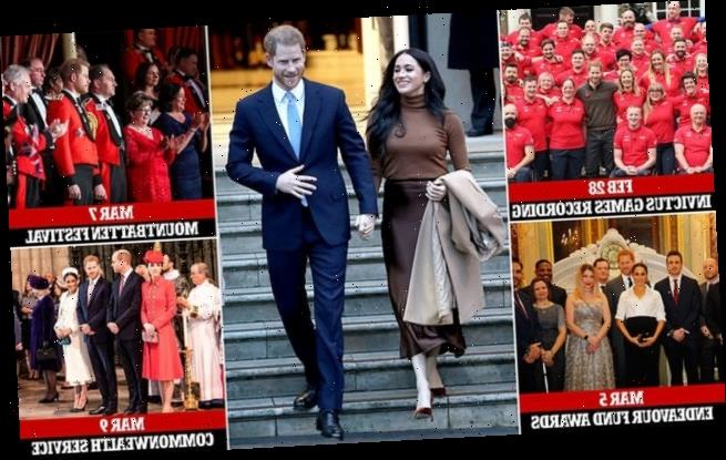 Prince Harry and Meghan Markle's six engagements before they step down
