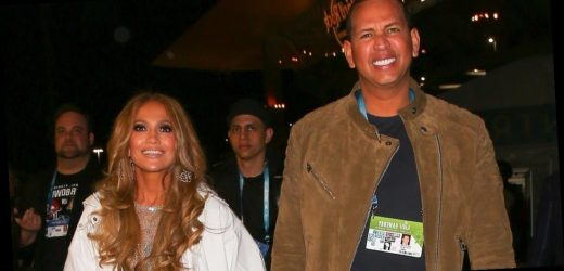 Jennifer Lopez's Rhinestone Jeans at the Super Bowl Shone as Bright as ARod Beaming Beside Her