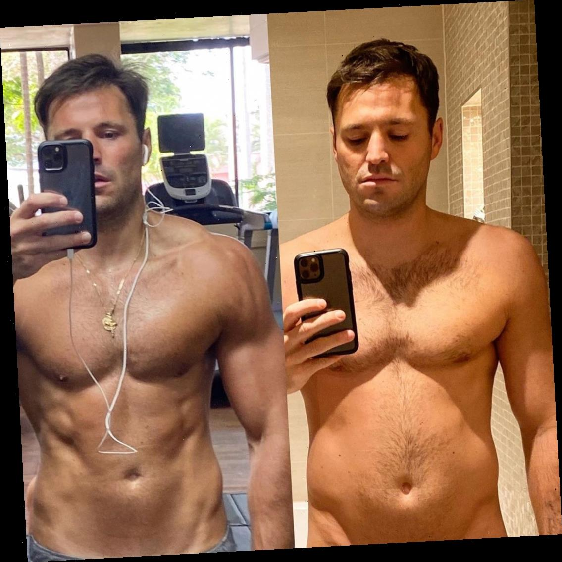 Mark Wright goes topless to show off weight loss after eating too much 'indulgent food' over Christmas – The Sun